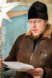 Hymnes voor Kerstmis 8 Januari 2016 in het Kaluga-gebied (Centraal Rusland) Royalty-vrije Stock Foto's