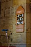 Hymns. The List of Hymns and a Microphone Royalty Free Stock Photo