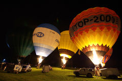 Hynek Cup - International hot air balloon cup. 4-7 September 2008. Start: Bielkówko - Kolbudy - Przywidz - Nowa Karczma - Szymbark - Szatarpy Royalty Free Stock Photo