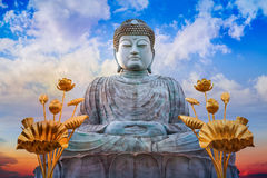 Hyogo Daibutsu at Nofukuji Temple in Kobe Royalty Free Stock Images