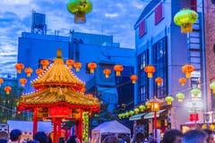 Hyogo, Japan - 23. September 2018: Kobe Chinatown Nankinmachi ist ein kompaktes Chinatown lizenzfreie stockfotografie