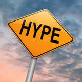 Hype concept. Illustration depicting a roadsign with a hype concept.Sky background stock illustration