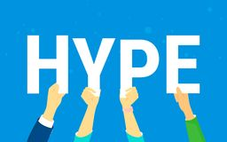 Hype letters concept vector illustration Royalty Free Stock Images