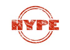 Hype red rubber stamp Stock Photography