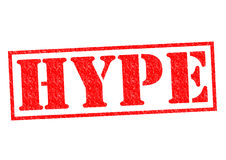 HYPE Rubber Stamp. HYPE red Rubber Stamp over a white background Stock Photo