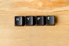 Hype word Stock Photo