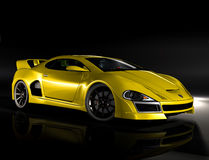 Hyper auto gele 1 Royalty-vrije Stock Fotografie