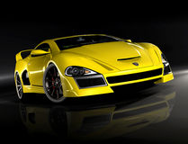 Hyper auto gele 2 Stock Afbeelding