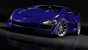 Hyper autoblauw 1 Royalty-vrije Stock Foto's