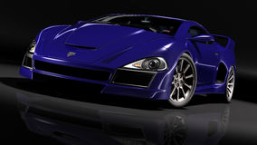 Hyper car blue 1 Royalty Free Stock Photos