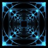 hyper framförd genomskinlig röntgenstråle för kub 3d stock illustrationer