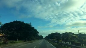 Hyper lapse on the road to Changlun Malaysia stock video footage