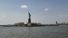 Hyper lapse with the Statue of Liberty, New York City stock footage