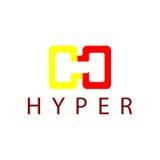Hyper Logo Template Lizenzfreies Stockbild