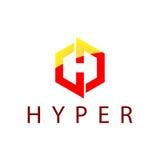Hyper Logo Template Stockbild