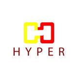 Hyper Logo Template. This logo is great for many business and company Royalty Free Stock Image