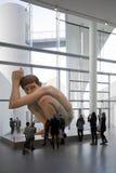 Hyper-realistic sculpture of Ron Mueck - Boy. ARoS Aarhus Kunstmuseum, Aarhus. Stock Image