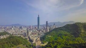 Hyper schackningsperiod av den Taipei staden genom att använda surret arkivfilmer