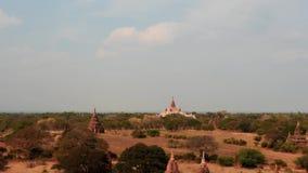 Hyper Versehen von Bagan-Tempeln auf Myanmar stock footage