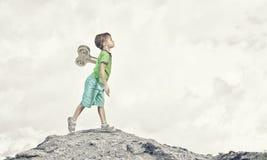 Hyperactive happy child Stock Image