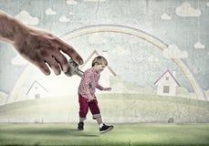 Hyperactive happy child Stock Photography