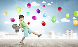 Hyperactive happy child Royalty Free Stock Photo