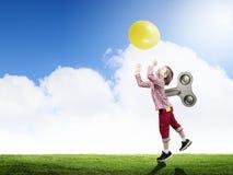 Hyperactive happy child Stock Photo