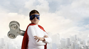 Hyperactive super child Royalty Free Stock Photography