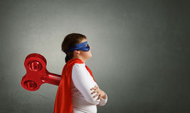 Hyperactive super child Royalty Free Stock Photo