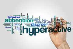 Hyperactive word cloud concept Stock Images