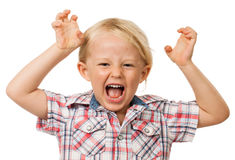 Hyperactive young boy Royalty Free Stock Photo