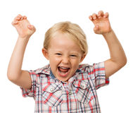 Hyperactive young cute boy Royalty Free Stock Image