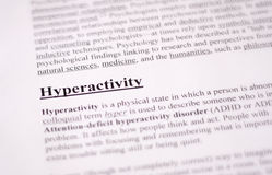 Hyperactivity - education or health care background Stock Images