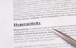 Hyperactivity - edukaci lub opieki zdrowotnej tło Fotografia Stock