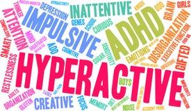 Hyperaktive Wort-Wolke Lizenzfreies Stockbild