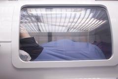 Hyperbaric oxygen tank chamber Royalty Free Stock Image