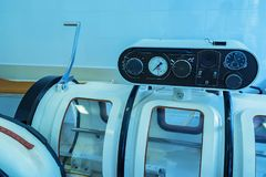 Hyperbaric Oxygen Therapy Chamber Tank Royalty Free Stock Images