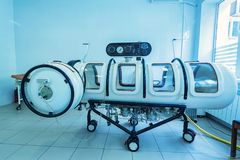 Hyperbaric oxygen therapy chamber tank stock photos