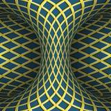 Hyperboloid a quadretti commovente Illustrazione di illusione ottica di vettore Immagini Stock Libere da Diritti