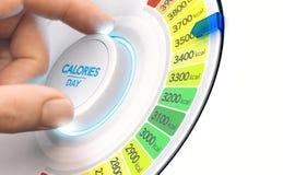 Hypercaloricdieet, hoog calorieënplan Stock Fotografie