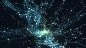 Hypercube 3d arrastra partículas libre illustration