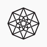 Hypercube, elemento geometrico Immagine Stock Libera da Diritti