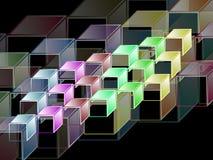 Hypercubes complexos - fundo geométrico abstrato Fotos de Stock Royalty Free