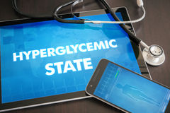 Hyperglycemic state (endocrine disease related) diagnosis medica Royalty Free Stock Photos