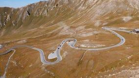 Hyperlapse дороги Grossglockner, Австрии видеоматериал