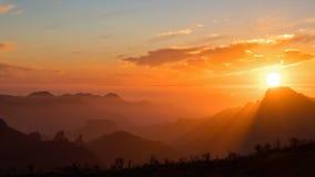 Hyperlapse захода солнца над Tejeda, Гран-Канарии видеоматериал