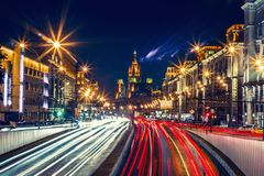 Hyperlapse Россия Москва Mayakovskaya сток-видео
