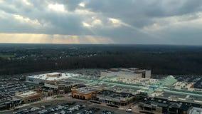 Hyperlapse aéreo en el dominio New Jersey almacen de video