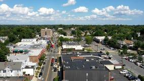 Hyperlapse aéreo en Highland Park New Jersey almacen de metraje de vídeo
