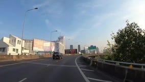 Hyperlapse al rallentatore di punto di vista tramite la strada di mattina, Bangkok, Tailandia stock footage